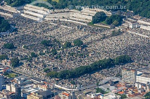 Vista do Cemitério São João Batista a partir do mirante do Cristo Redentor  - Rio de Janeiro - Rio de Janeiro (RJ) - Brasil