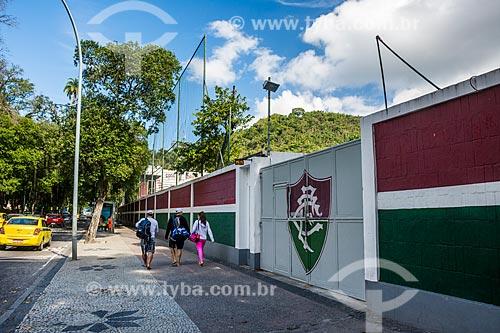 Entrada do Estádio Manoel Schwartz - mais conhecido como Estádio das Laranjeiras - sede do Fluminense Football Club  - Rio de Janeiro - Rio de Janeiro (RJ) - Brasil