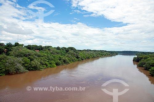 Vista do Rio do Sono - divisa natural entre as cidades de Bom Jesus do Tocantins e Pedro Afonso  - Pedro Afonso - Tocantins (TO) - Brasil