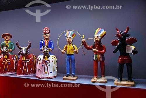 Artesanato em cerâmica em exibição no Centro de Referência do Artesanato Brasileiro (CRAB) durante a exposição Festa Brasileira - Fantasia feita à mão  - Rio de Janeiro - Rio de Janeiro (RJ) - Brasil