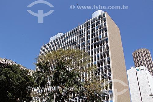 Fachada do Edifício Gustavo Capanema (1945) - antigo Ministério da Educação, atual sede do Ministério da Cultura no Rio de Janeiro  - Rio de Janeiro - Rio de Janeiro (RJ) - Brasil