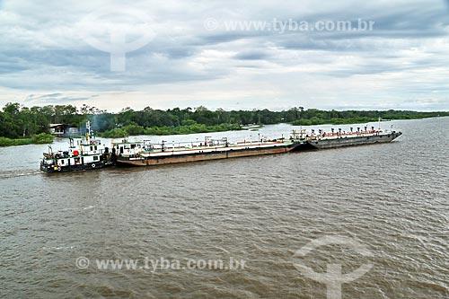 Navio-tanque no Rio Amazonas próximo à Manaus  - Manaus - Amazonas (AM) - Brasil