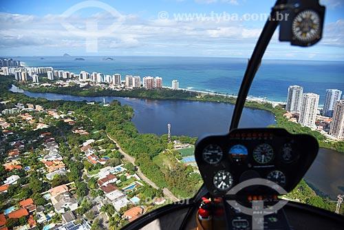 Foto aérea da Lagoa da Tijuca  - Rio de Janeiro - Rio de Janeiro (RJ) - Brasil