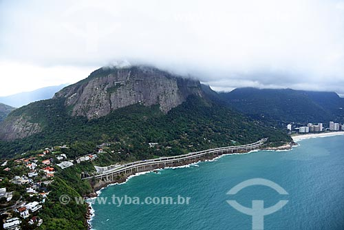 Foto aérea do Elevado do Joá (1972) - também conhecido como Elevado das Bandeiras  - Rio de Janeiro - Rio de Janeiro (RJ) - Brasil