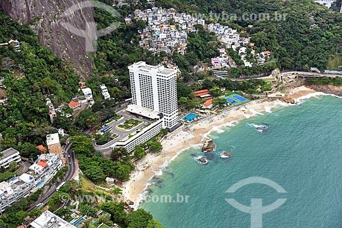 Foto aérea da Praia do Vidigal com o Sheraton Rio Hotel & Resort  - Rio de Janeiro - Rio de Janeiro (RJ) - Brasil