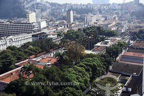 Vista de cima do Palácio do Itamaraty (1854) - antigo Ministério das Relações Exteriores, atual sede do Escritório de Representação do mesmo ministério no Rio de Janeiro  - Rio de Janeiro - Rio de Janeiro (RJ) - Brasil