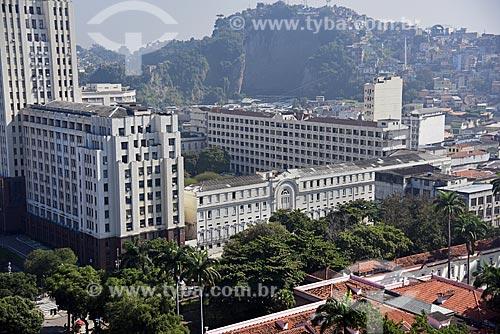 Vista de cima da fachada lateral do Palácio Duque de Caxias (1941)  - Rio de Janeiro - Rio de Janeiro (RJ) - Brasil