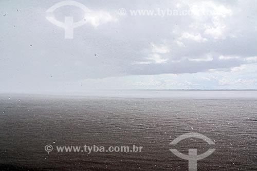 Chuva no Rio Amazonas próximo à Itacoatiara  - Itacoatiara - Amazonas (AM) - Brasil