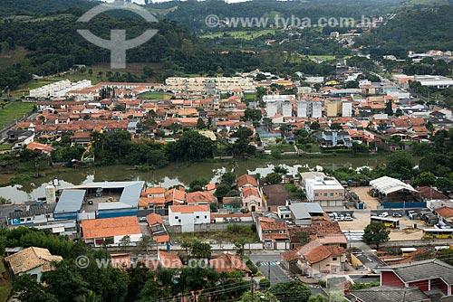 Vista geral da cidade de Guararema com o Rio Paraíba do Sul  - Guararema - São Paulo (SP) - Brasil