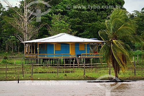 Casa em comunidade ribeirinha às margens do Rio Amazonas  - Manaus - Amazonas (AM) - Brasil