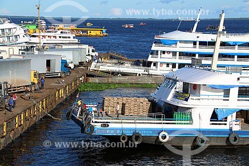 Porto de Manaus às margens do Rio Negro  - Manaus - Amazonas (AM) - Brasil