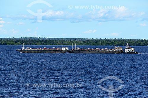 Navio-tanque no Rio Negro próximo à Manaus  - Manaus - Amazonas (AM) - Brasil