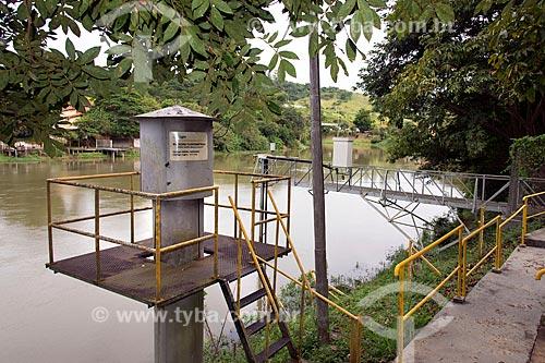 Estação pluviométrica próximo à represa da Usina Hidrelétrica de Santa Branca no Rio Paraíba do Sul  - Santa Branca - São Paulo (SP) - Brasil