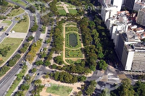 Foto aérea da Praça Paris (1926)  - Rio de Janeiro - Rio de Janeiro (RJ) - Brasil