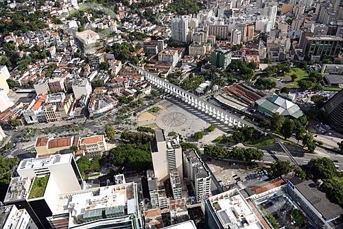 Foto aérea dos Arcos da Lapa (1750)  - Rio de Janeiro - Rio de Janeiro (RJ) - Brasil
