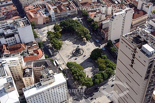 Foto aérea da Praça Tiradentes  - Rio de Janeiro - Rio de Janeiro (RJ) - Brasil