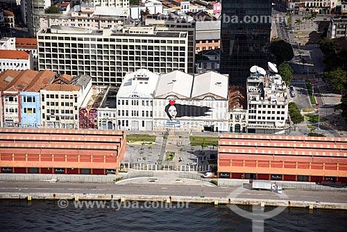 Foto aérea dos armazéns do Cais da Gamboa - Porto do Rio de Janeiro  - Rio de Janeiro - Rio de Janeiro (RJ) - Brasil