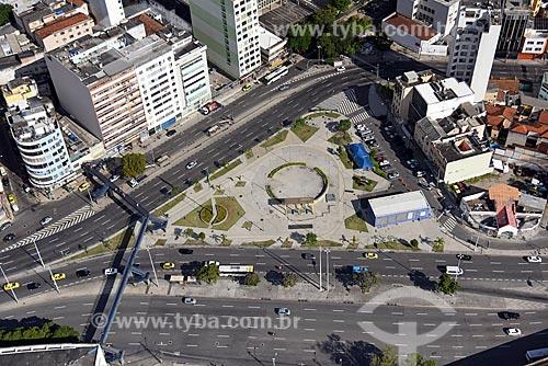 Foto aérea da Praça da Bandeira  - Rio de Janeiro - Rio de Janeiro (RJ) - Brasil