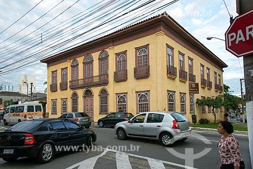 Fachada do Solar Gomes Leitão - hoje abriga o  Museu de Antropologia do Vale do Paraíba  - Jacareí - São Paulo (SP) - Brasil