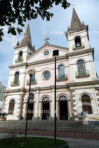Fachada da Igreja Matriz de Nossa Senhora da Imaculada Conceição (século XIX)  - Jacareí - São Paulo (SP) - Brasil