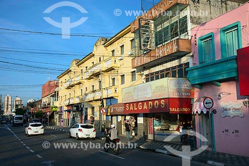 Casas e comércios na Rua Barão de Jacareí  - Jacareí - São Paulo (SP) - Brasil