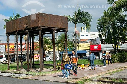 Antiga caixa dágua próxima à antiga Estação Ferroviária de Jacareí, hoje abriga o Espaço Cultural Pátio dos Trilhos  - Jacareí - São Paulo (SP) - Brasil