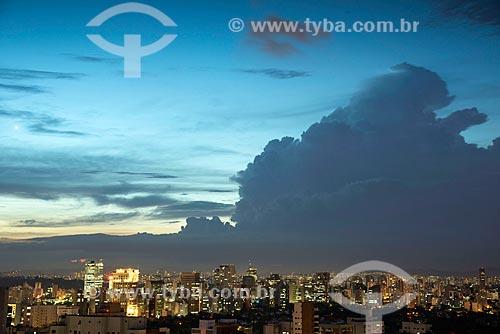 Vista do Itaim Bibi durante o anoitecer  - São Paulo - São Paulo (SP) - Brasil