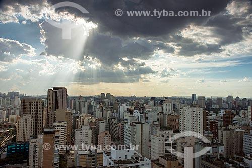 Vista do Itaim Bibi durante o pôr do sol  - São Paulo - São Paulo (SP) - Brasil