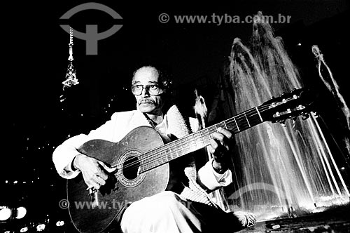 Detalhe do violonista Baden Powell  - São Paulo - São Paulo (SP) - Brasil