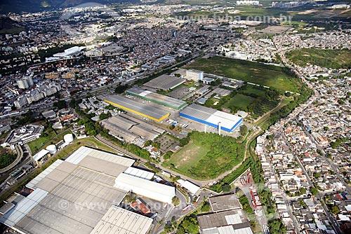 Foto aérea da Fábrica da Coca-Cola e da Bandeirantes Business Park - locação de galpões e armazéns  - Rio de Janeiro - Rio de Janeiro (RJ) - Brasil