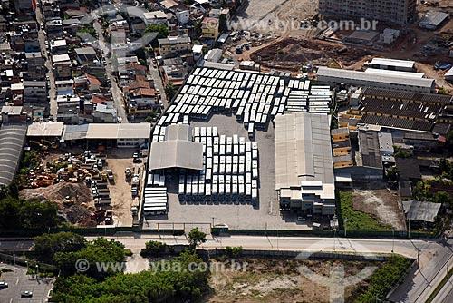 Foto aérea da garagem da Transportes Santa Maria  - Rio de Janeiro - Rio de Janeiro (RJ) - Brasil