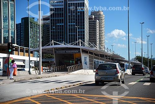 Estação do BRT Transoeste - Bosque Marapendi - na Avenida das Américas  - Rio de Janeiro - Rio de Janeiro (RJ) - Brasil