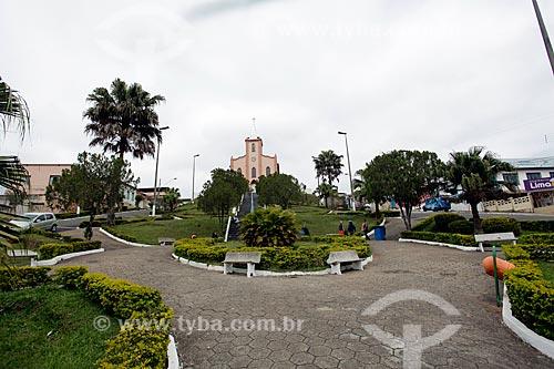 Vista da Praça Vigário Maia com a Igreja Matriz de Nossa Senhora das Dores (1872) ao fundo  - Lima Duarte - Minas Gerais (MG) - Brasil