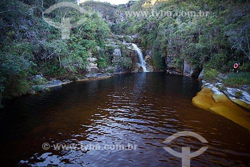 Vista da Cachoeira dos Macacos no Parque Estadual do Ibitipoca  - Lima Duarte - Minas Gerais (MG) - Brasil