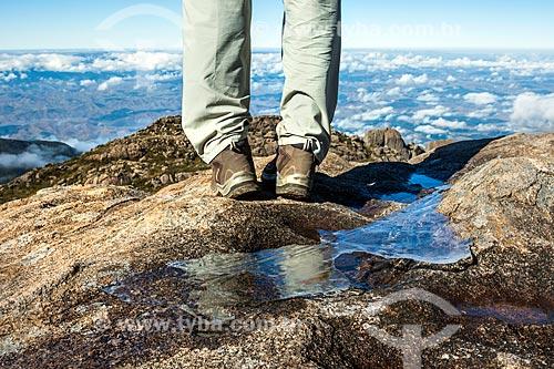 Detalhe de água congelada no Parque Nacional de Itatiaia  - Itatiaia - Rio de Janeiro (RJ) - Brasil