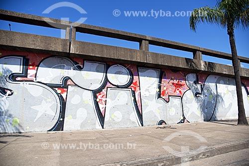 Detalhe de grafite em viaduto  - Rio de Janeiro - Rio de Janeiro (RJ) - Brasil