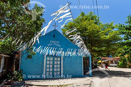 Fachada da Igreja de São Pedro na Ilha de Boipeba  - Cairu - Bahia (BA) - Brasil