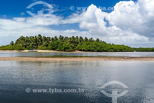 Vista da foz do Rio Catu na Ponta dos Castelhanos  - Cairu - Bahia (BA) - Brasil