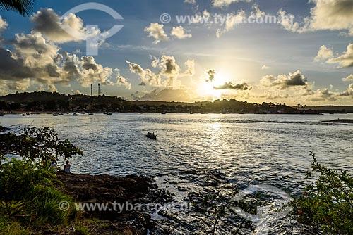 Vista do pôr do sol da Ponta do Xaréu  - Itacaré - Bahia (BA) - Brasil
