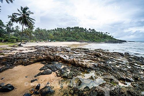 Vista da orla do Praia do Resende  - Itacaré - Bahia (BA) - Brasil