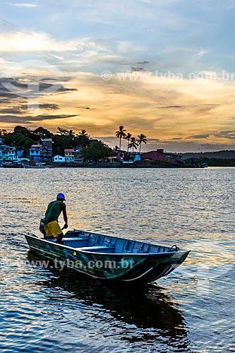 Vista do pôr do sol a partir da Praia do Pontal  - Itacaré - Bahia (BA) - Brasil