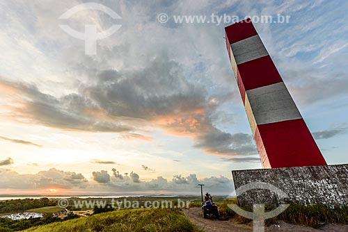 Vista do pôr do sol a partir do Farol de Taipu  - Maraú - Bahia (BA) - Brasil