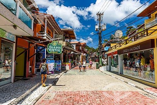 Rua da Prainha no Morro de São Paulo  - Cairu - Bahia (BA) - Brasil