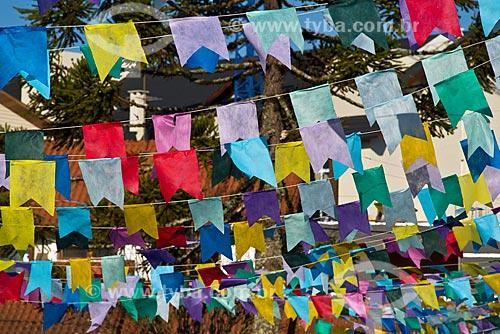 Detalhe de bandeirinhas de Festa Junina  - Canela - Rio Grande do Sul (RS) - Brasil