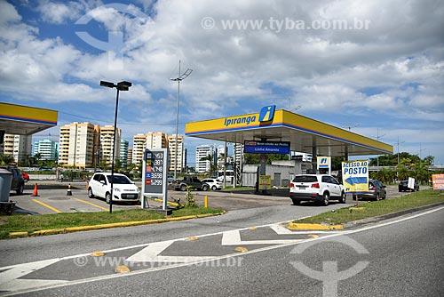 Posto de gasolina na Avenida Ayrton Senna  - Rio de Janeiro - Rio de Janeiro (RJ) - Brasil