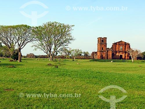 Ruínas da Igreja de São Miguel no Sítio Arqueológico de São Miguel Arcanjo (1745)  - São Miguel das Missões - Rio Grande do Sul (RS) - Brasil