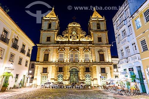 Fachada do Convento e Igreja de São Francisco (Século XVIII) no Largo do Cruzeiro de São Francisco  - Salvador - Bahia (BA) - Brasil