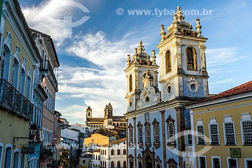 Vista da Igreja de Nossa Senhora do Rosário dos Pretos (século XVIII)  - Salvador - Bahia (BA) - Brasil
