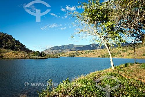Vista da barragem da Usina Hidrelétrica de Zé Tunin  - Guarani - Minas Gerais (MG) - Brasil