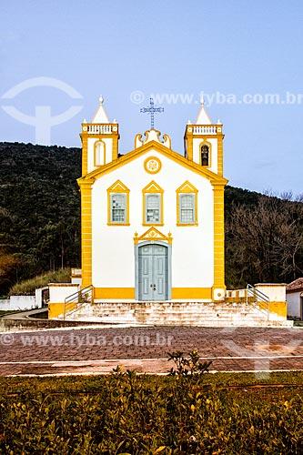 Fachada da Igreja Nossa Senhora da Lapa (1806) durante o entardecer  - Florianópolis - Santa Catarina (SC) - Brasil